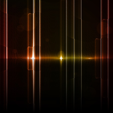 Technology template. Neon abstract, reflection lines backgrounds Stock Photo - 13404587