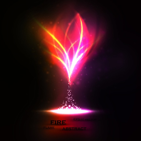 neon: Abstract of Creative dynamic, magic fire Illustrations. Illustration