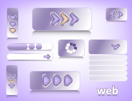 Web design elements, website buttons collection eps10 Vector
