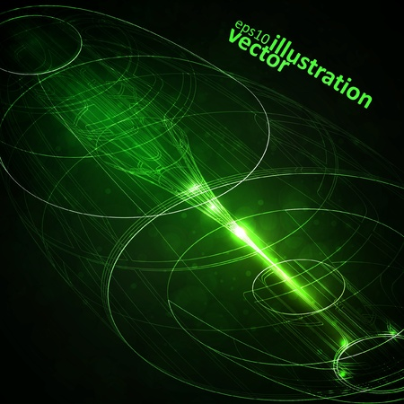 Abstract technology, vector technical drawing, shiny space background eps10 Vector