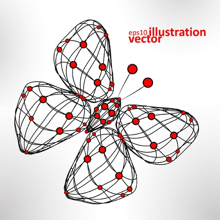 abstract butterfly, technology energy vector illustration eps10 Vector