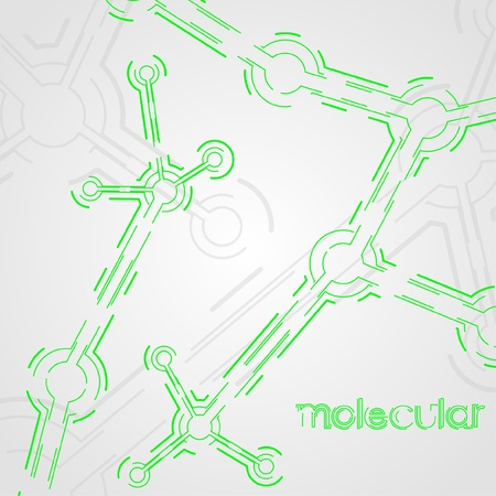 circuit board background, technology illustration, form of dna, molecular Vector