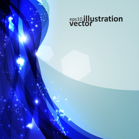 Abstract background, shiny space, futuristic wave illustration Stock Vector - 13531919