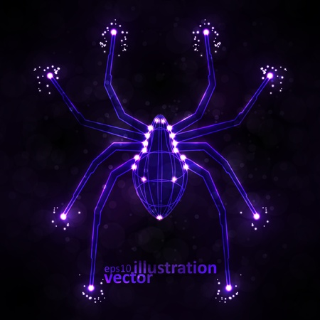 Abstract spider, technology energy illustration Vector