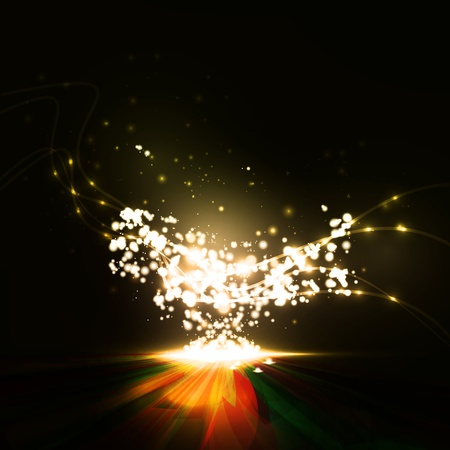 light effect: Abstract. Creative dynamic element,  light lines Illustrations. Stock Photo