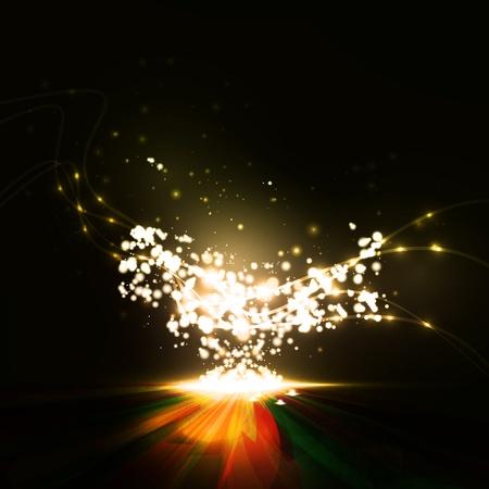 light trail: Resumen. Elemento creativo din�mico, Ilustraciones l�neas de luz.