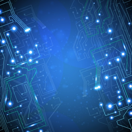 circuit board background, technology illustration  illustration