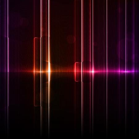 sfondo luci: Tecnologia modello. Neon astratto, linee di riflessione sfondi Archivio Fotografico