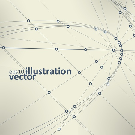 high tech design: Abstract vector background, vintage technology illustration eps10 Illustration