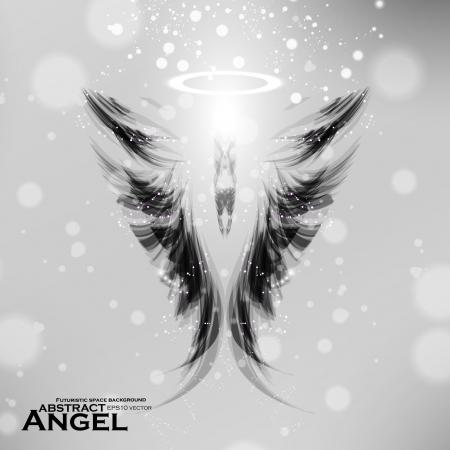 어두워: 천사 미래의 배경, 날개 그림