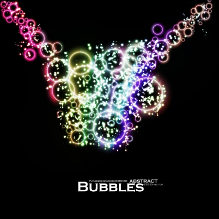 Abstract background, colorful lights bubble, dynamic element. Vector