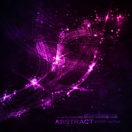 Abstract background, shiny space, futuristic wave illustration Stock Vector - 13640087
