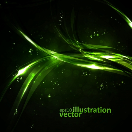 Abstract background, shiny space, futuristic wave illustration Stock Vector - 13640198