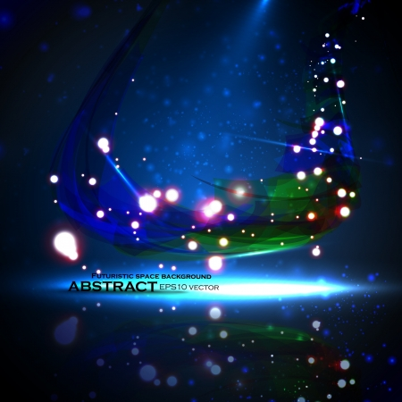 enchanted: Abstract background. Creative dynamic element, shiny space illustration.