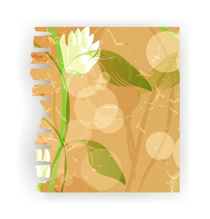 torn paper illustration, piece ragged realistic cracked damaged paper Stock Illustration - 13914827