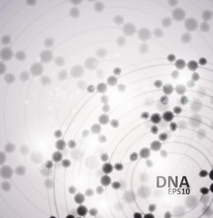 Futuristic dna, abstract molecule, cell illustration Stock Vector - 13954803