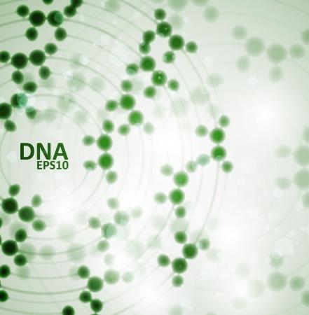 gene: Futuristisch dna, abstracte molecuul, cel illustratie eps10