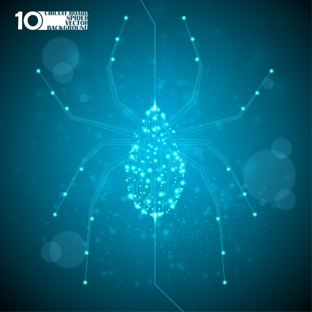 Circuit board vector background, technology illustration, spider illustration eps10 Stock Vector - 14161895