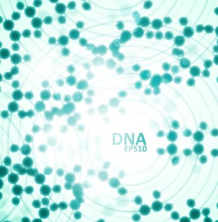 Adn futuriste, molécule abstraite, illustration cellule eps10
