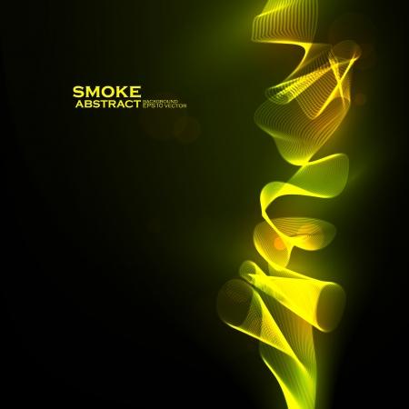 Creative dynamic, magic smoke Illustrations. Stock Vector - 14225422