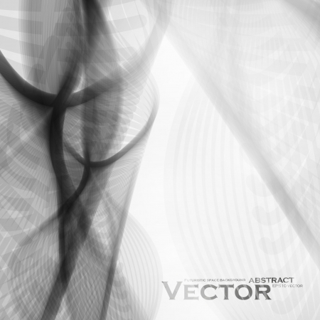 Abstract vector background, futuristic wave illustration eps10 Vector