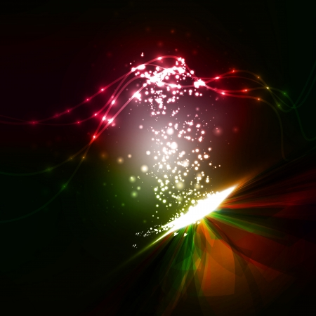 Abstract. Creative dynamic element, light lines Illustrations. Stock Photo
