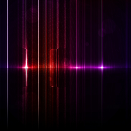 Technology template. Neon abstract, reflection lines backgrounds Stock Photo - 14252839
