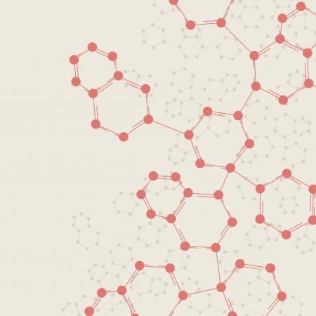 Retro dna, vintage molecule, cell illustration Stock Illustration - 14252813