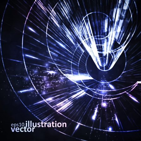 Abstract background, motion lines, futuristic illustration  Vector