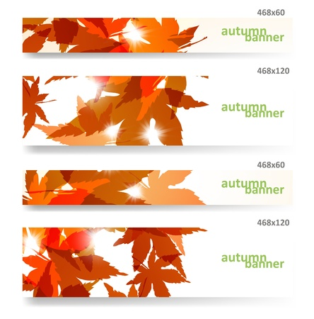 banner effect: Autumn banner