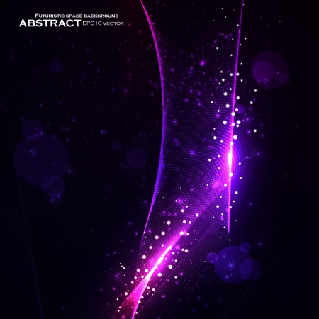 enchanted: Abstract  background, shiny space, futuristic wave illustration