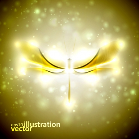Shiny abstract dragonfly, futuristic colorful vector illustration eps10 Vector