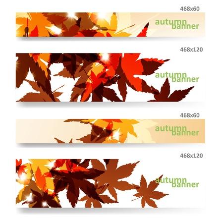 Autumn banner, vector illustration eps10 Vector