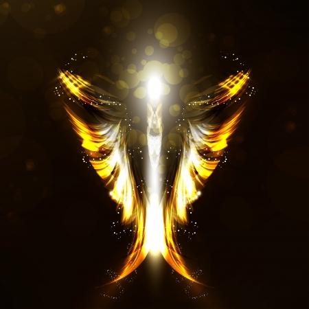 guardian angel: �ngel futurista de fondo, ilustraci�n ala