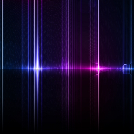 Technology template. Neon abstract, reflection lines backgrounds