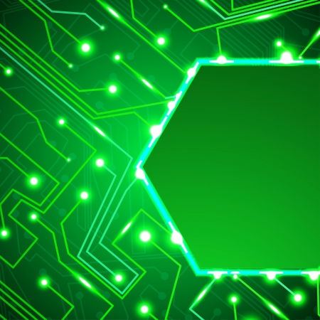 printed: circuit board background, technology illustration