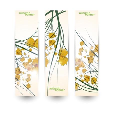 Autumn banner set, vector illustration eps10 Stock Vector - 15192259