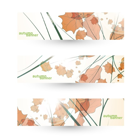 Autumn banner set, vector illustration eps10 Stock Vector - 15192250