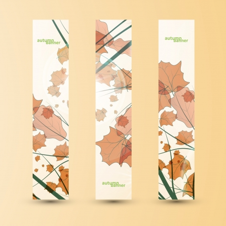 Autumn banner set, vector illustration eps10 Stock Vector - 15192247