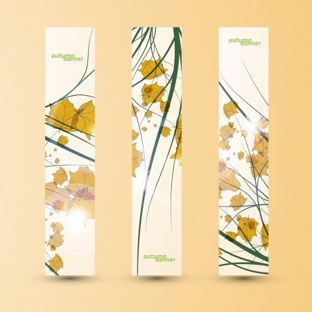 Autumn banner set, vector illustration eps10 Stock Vector - 15192252