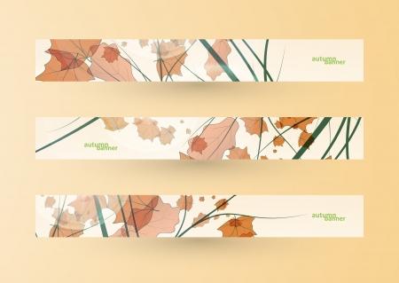 Autumn banner set, vector illustration eps10 Stock Vector - 15192246