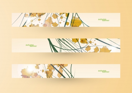Autumn banner set, vector illustration eps10 Stock Vector - 15192251