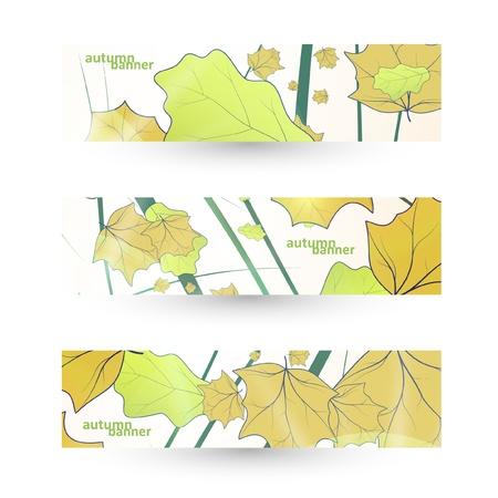 Autumn banner set, illustration Stock Vector - 14975364