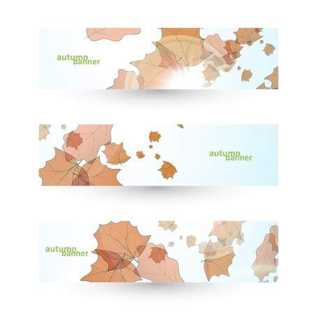 Autumn banner set, vector illustration eps10 Stock Vector - 14975385