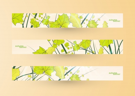 Autumn banner set, illustration Stock Vector - 14975390