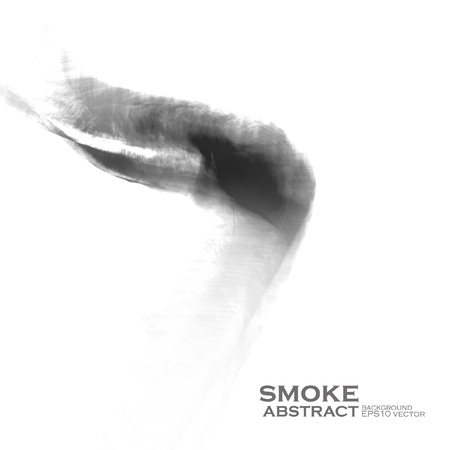 Smoke illustration. Abstract background Vector