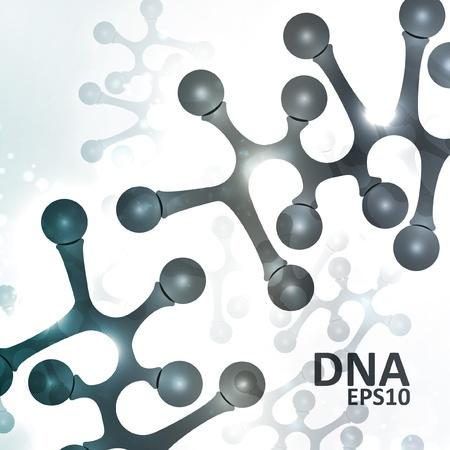 microbiologia: Dna futurista, mol�cula abstracta, ilustraci�n c�lula