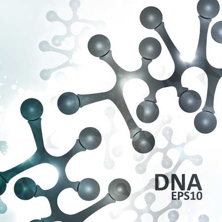 Futuristic dna, abstract molecule, cell illustration Illustration