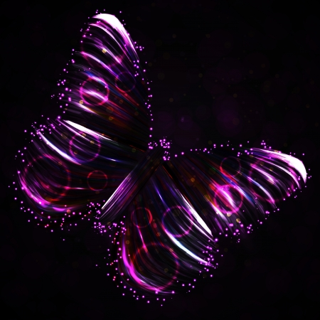 Shiny Butterfly abstract, futuristic colorful strip, stylish illustration Stock Illustration - 15072256