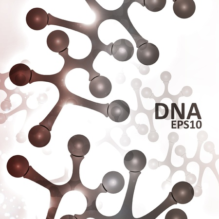 Futuristic dna, abstract molecule Stock Vector - 15535227